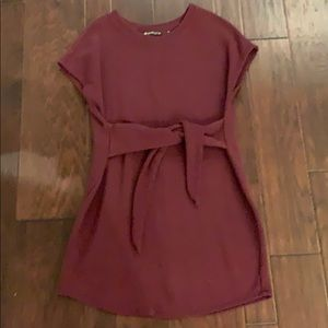 Athleta wine colored dress